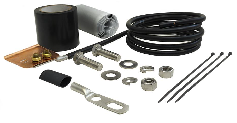 "Mini Universal Ground Kit for 1/4""in and 3/8"" in Coaxial Cable"
