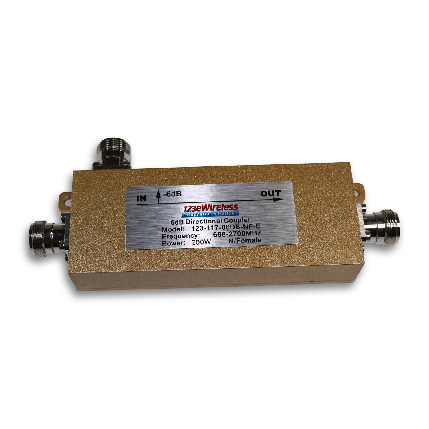 N-Female, 6DB, 200W Directional Coupler, 700-2700 MHz