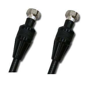 "Din Male to 4.1/9.5 Mini Din Male 1/2"" Super Flexible Jumper, 3M"
