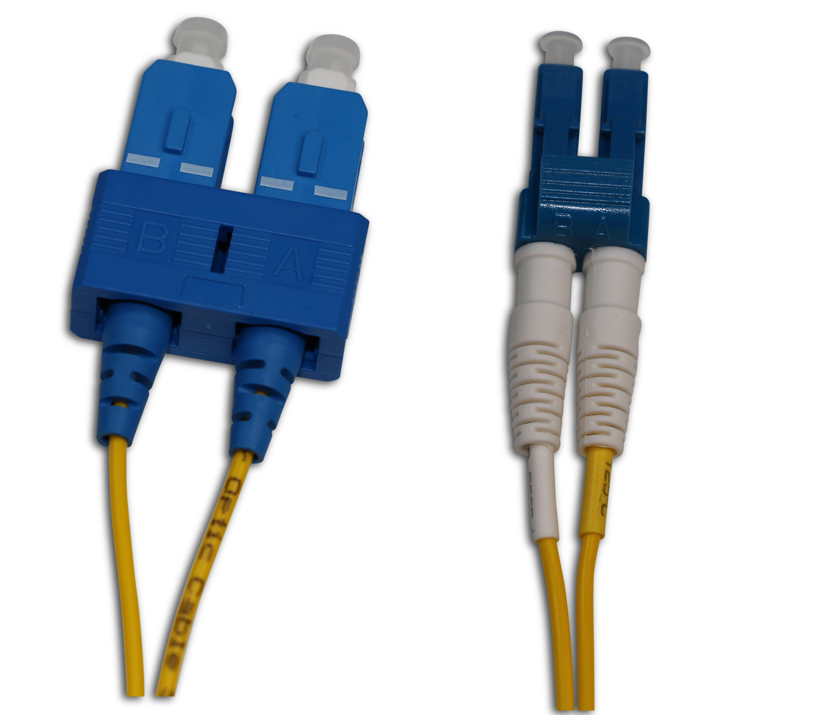 SC/UPC to LC/UPC Singlemode Duplex Fiber Patch Cord, 20 FT