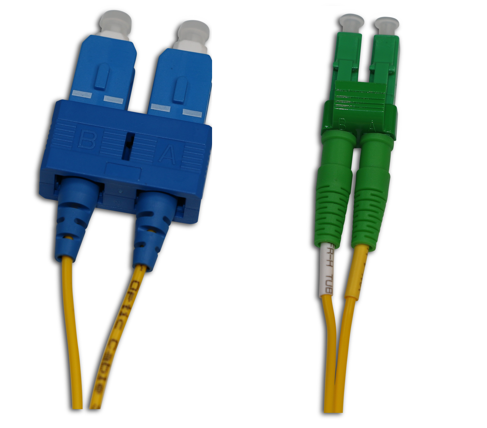 LC/APC to SC/UPC Single Mode Duplex 2 Meter Patch Cord