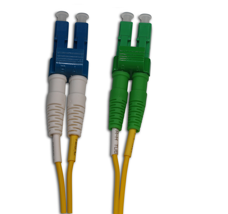 LC/APC to LC/UPC Single Mode Duplex 1 Meter Patch Cord
