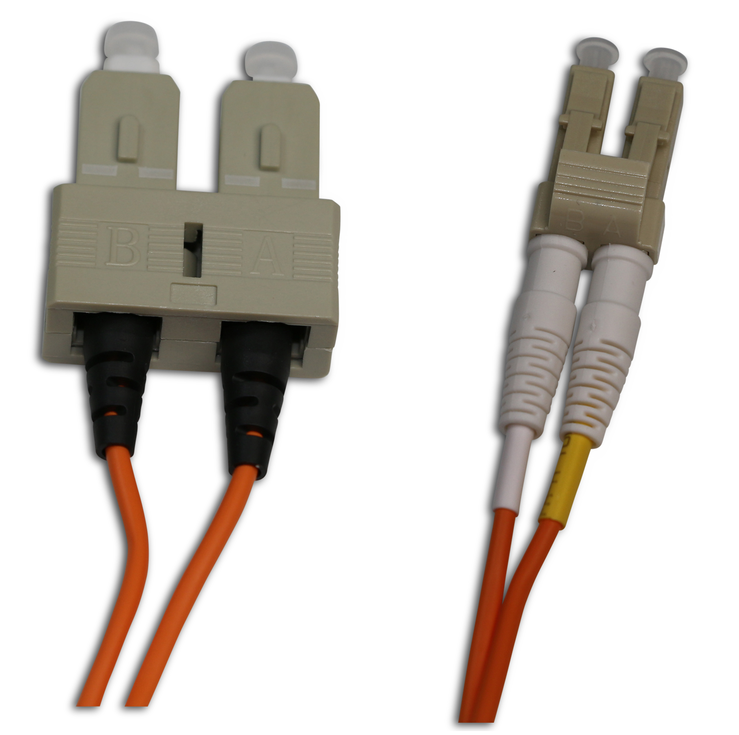 LC/UPC to SC/UPC 62.5/125 Multi Mode Duplex 2 Meter Patch Cord