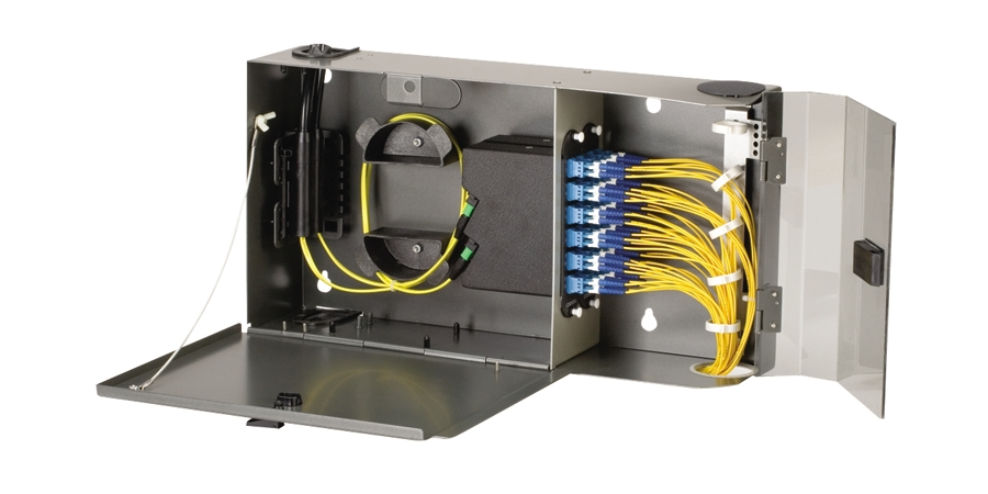 Pretium Wall-Mountable Housing (PWH), holds 2 CCH connector panels